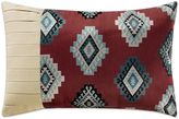 Remington Lodge Cabot Diamond Pleat Oblong Throw Pillow in Red
