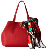 Love Moschino Animal Scarf Tote Tote Handbags