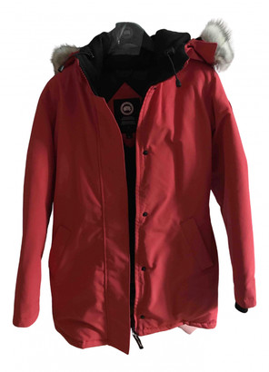 Canada Goose Expedition Red Cotton Coats