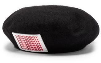 Charles Jeffrey Loverboy Loverboy Logo-patch Wool-blend Beret - Black