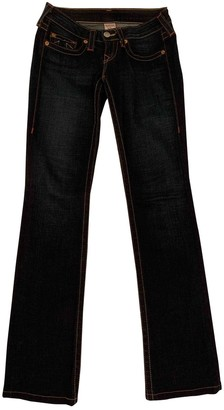 True Religion Navy Cotton Jeans for Women