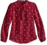 Tommy Hilfiger Bow-Print Button-Front Top, Big Girls (7-16)
