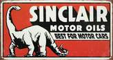 Poster Revolution Sinclair Motor Oil Best For Motor Cars Distressed Retro Vintage Tin Sign - 9x16