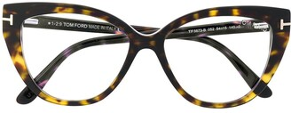 Tom Ford Cat-Eye Havana Glasses