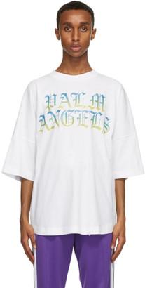 Palm Angels White Hue Gothic Logo T-Shirt