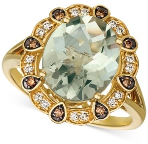 LeVian Le Vian Mint Julep Quartz (3-3/4 ct. t.w.) & Diamond (1/5 ct. t.w.) Ring in 14k Gold