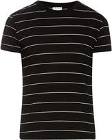 Saint Laurent Striped cotton jersey T-shirt