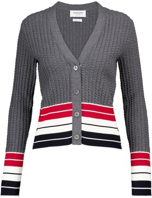Thom Browne Striped cotton cardigan