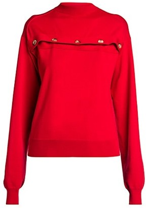 Bottega Veneta Merino Open Button Knit Pullover