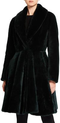 Alaia Shearling Knee-Length A-Line Skirt