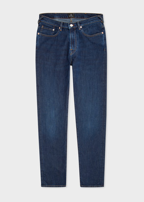 Paul Smith Men's Tapered-Fit Antique-Wash 'Dry Indigo' Jeans