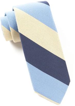 Tie Bar Big Wool Stripe Butter Tie