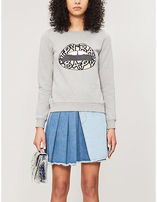 Markus Lupfer BAPY x lip-print cotton-jersey jumper