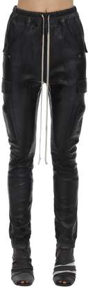 Rick Owens Leather Cargo Jogger Pants
