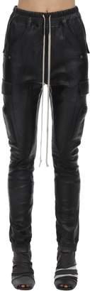 Rick Owens Leather Cargo Jogger Pants