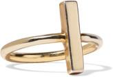 Adina 18-karat gold-plated sterling silver ring
