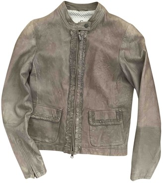 Cerruti Green Leather Jacket for Women