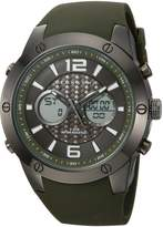 Sean John Men's Quartz Metal and Silicone Casual Watch, Color: (Model: SJ50021004)