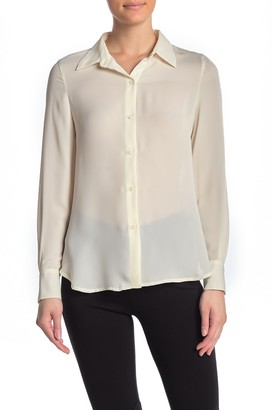 Premise Cashmere Solid Button Front Shirt
