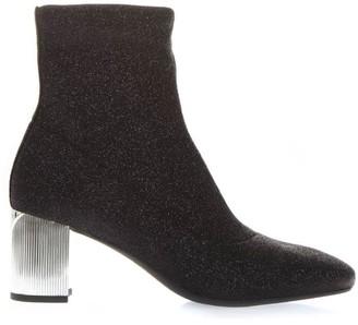 MICHAEL Michael Kors Black Stretch-knit Ankle Boots
