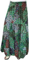 Maple Clothing Womens Printed Long Indian Skirt India Apparel
