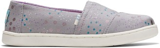Toms Drizzle Grey Superbloom Dot Print Youth Classics