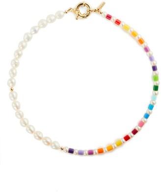 Eliou Thasos Bead & Baroque Pearl Necklace