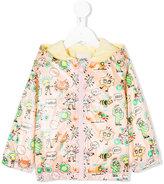 Fendi graphic jacket - kids - Cotton/Polyamide - 12-18 mth