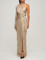 Thumbnail for your product : Maria Lucia Hohan Eden Silk Foiled One Sleeve Long Dress