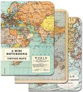 Cavallini & Co. Vintage Maps 4x5, 3 Mini Notebooks