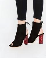 Lace Up Peep Toe Heels - ShopStyle