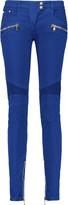 Balmain Mid-rise paneled skinny jeans