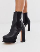 Asos Design DESIGN Ecuador platform boots in black