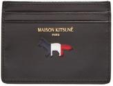 MAISON KITSUNÉ Cut-out logo leather cardholder