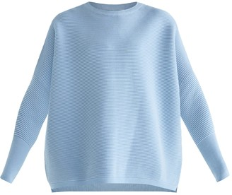 Paisie Ribbed Jumper in Sky Blue