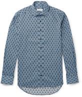 Etro - Slim-fit Printed Cotton-poplin Shirt