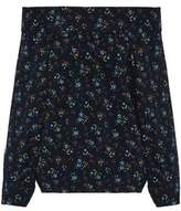 Marissa Webb Off-The-Shoulder Floral-Print Crepe De Chine Top