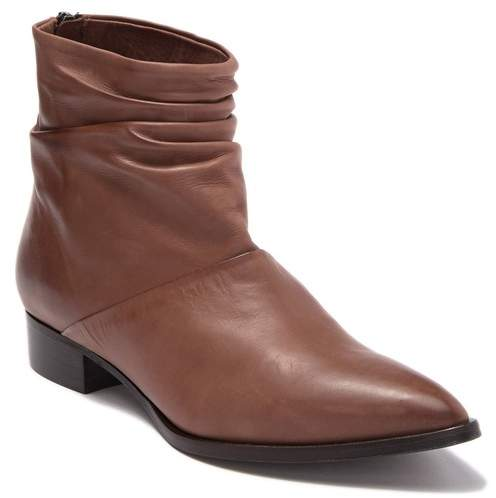 Alberto Fermani Ruched Leather Ankle Boot