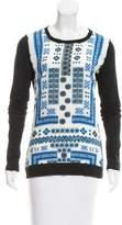 Altuzarra Printed Long Sleeve Top