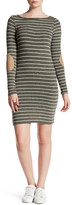 Soprano Patched Stripe Knit Dress