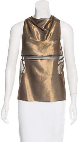 Vera Wang Sleeveless Metallic Top