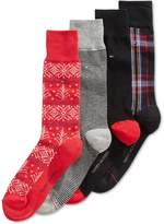 Tommy Hilfiger Mens 4PK Fair Isle Dress Socks Multi 10-13
