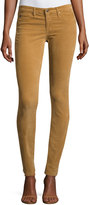 AG Jeans Velvet-Soft Corduroy Low-Rise Skinny Pants, Tan