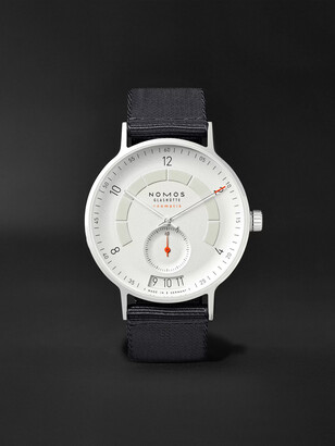 Nomos Glashütte Autobahn Neomatik Datum Automatic 41mm Stainless Steel And Nylon Watch, Ref. No. 1301