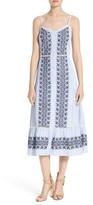 Veronica Beard Women's Joni Embroidered Cotton Midi Dress