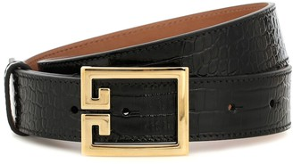 Givenchy Croc-effect leather belt