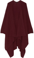 The Row Cappeto Ribbed Cashmere Wrap - Burgundy