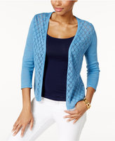 Charter Club Diamond-Stitch Open-Front Cardigan, Only at Macy's