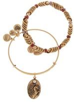 Alex and Ani Forest Blessing Pegasus Adjustable Bangle Bracelets - Set of 2