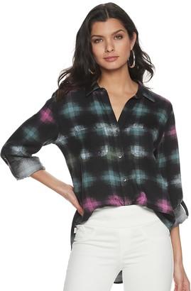 Rock & Republic Women's Drapey Roll-Cuff Shirt
